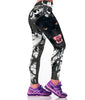 Black Panther and Barbed Wire Sports Leggings for Women
