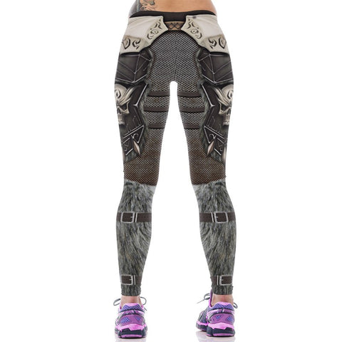 3D Gothic Punk Rock Elastic Waist Leggings