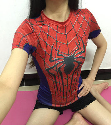 Spiderman for Women Compression Shirt