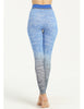 Image of Blue High Waist Seamless Sporting Leggings for Plus-sized Women