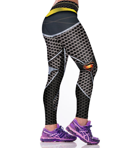 Superhero 2016-Batman v Superman: Dawn of Justice Honeycomb Leggings for Women