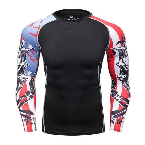 Men Compression Long Sleeves Rash Guard  Base Layer F29