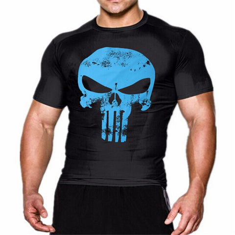 The Punisher Blue Compression Shirt