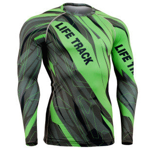 Fast and Furious Green Life Track Compression Long Sleeve