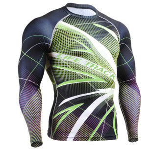 LED Line Life Track Compression Long Sleeve
