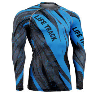 Fast and Furious Blue Life Track Compression Long Sleeve