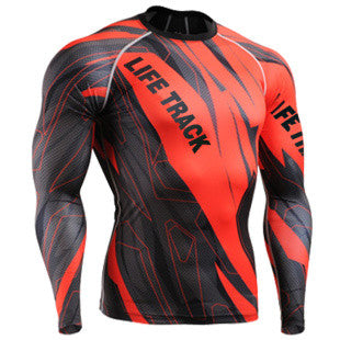 Fast and Furious Red Life Track Compression Long Sleeve