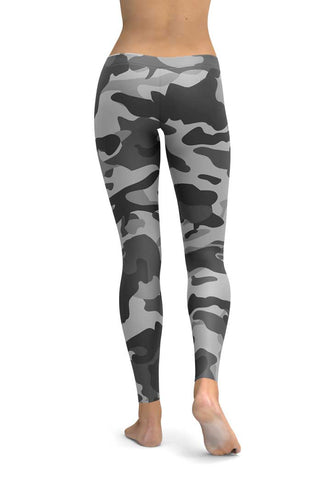 Cammo Grey High Quality Leggings