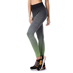 Gradient Green to Black Quick Dry Yoga Pants