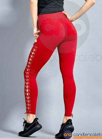 Lana Side Lace-Up  RED