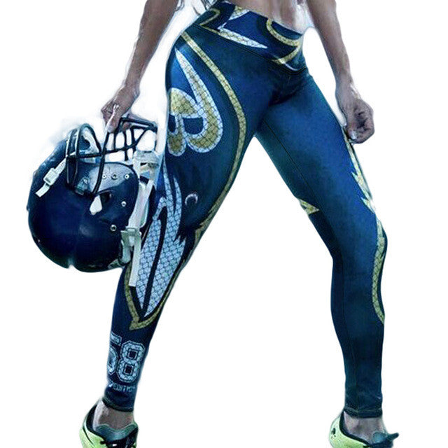 LIMITED EDITION Blazing BLUE Baltimore Sports Leggings