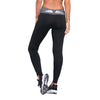 Image of Black Quick Dry Yoga Pants with White Wings
