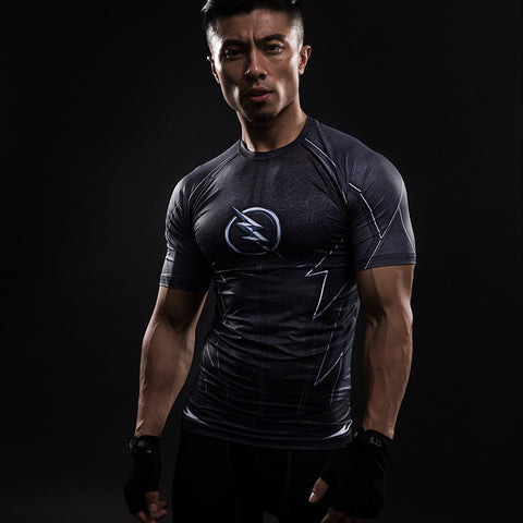 Flash ZOOM 3D Printed Compression Short Sleeve