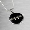 Image of Thin Camouflage Line Circle Necklace V3
