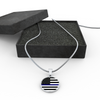 Image of Blue Line Circle Necklace