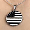 Image of Thin Camouflage Line Circle Necklace