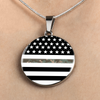 Image of Thin Camouflage Line Circle Necklace V2