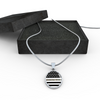 Image of Oval Thin Camouflage Line Necklaces V2
