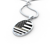 Image of Oval Thin Camouflage Line Necklaces