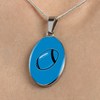 Image of Carolina Luxury Oval Necklace w/ Adjustable Chain