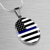 Image of Oval Blue Line Necklaces