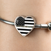 Image of Thin Camouflage Line Heart Design Bracelet