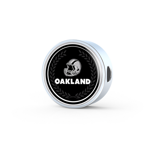 Oakland Double-Braided Real Leather Charm Bracelet
