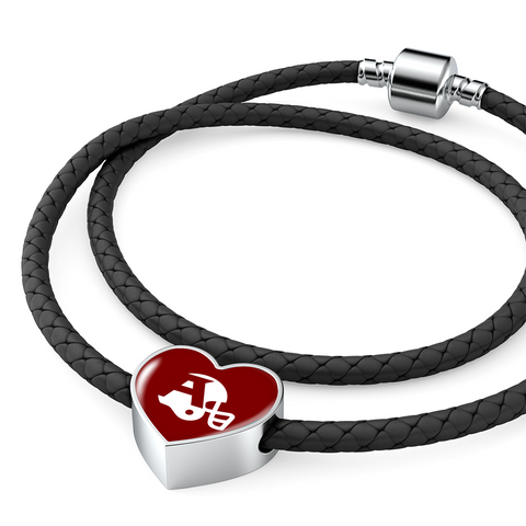 Atlanta Double-Braided Real-Leather Bracelet Charm