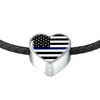 Image of Thin Blue Line Heart Design Necklace