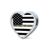Image of Thin Camouflage Line Heart Design Necklace