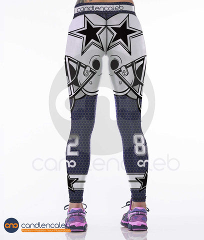 LIMITED EDITION BLUE Dallas Sports Leggings