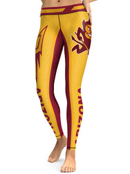 Arizona State College Team Football Sports Leggings