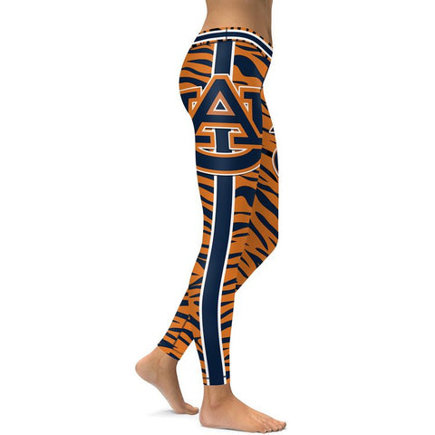 Auburn Tigers College Team Football Sports Leggings