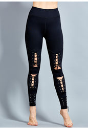 Lana Front Lace-Up Fashion Black