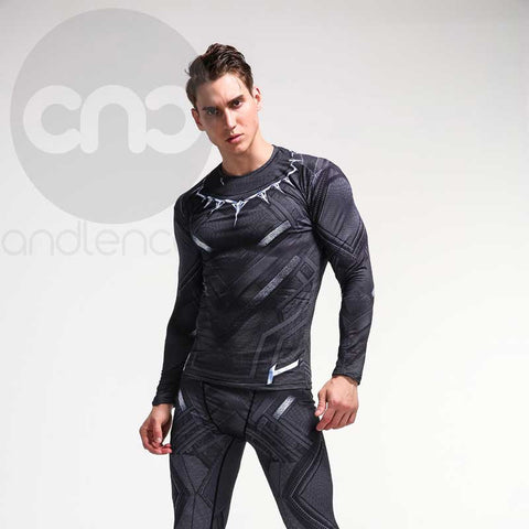 Black Panther 3D Compression Long Sleeve Shirt