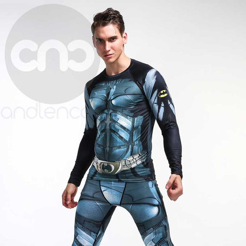 Batman Blue 3D Compression Long Sleeves