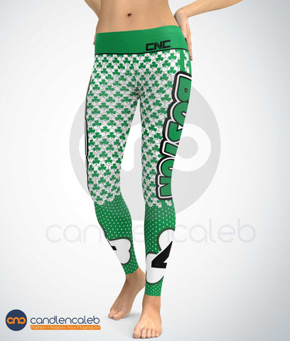 Boston Basketball Leggings