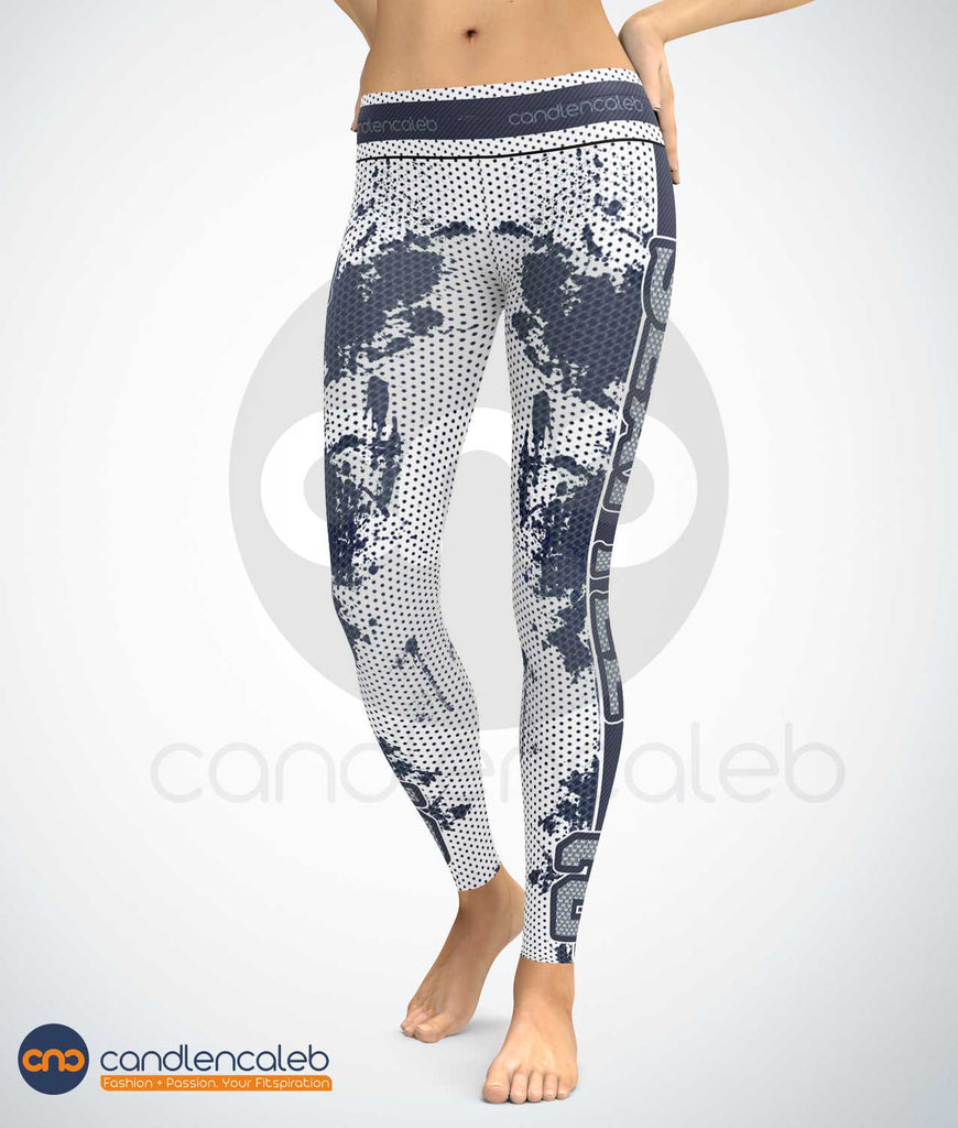 CNC Seattle Blue and White Sports Leggings (High Quality)