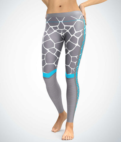 Young Wild Blue Grey Leggings