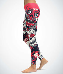 Pink Skull Candies Leggings
