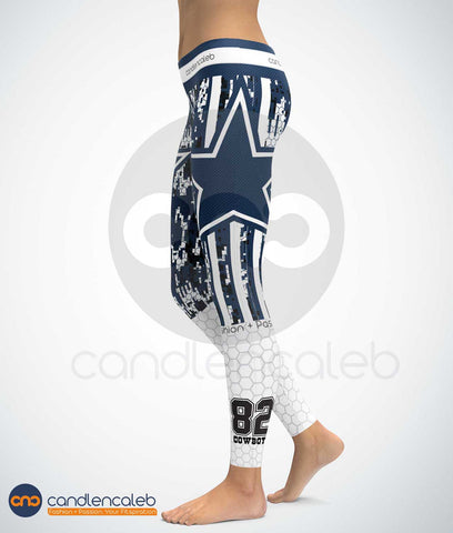 Dallas Star 2 High Quality Yoga Leggings