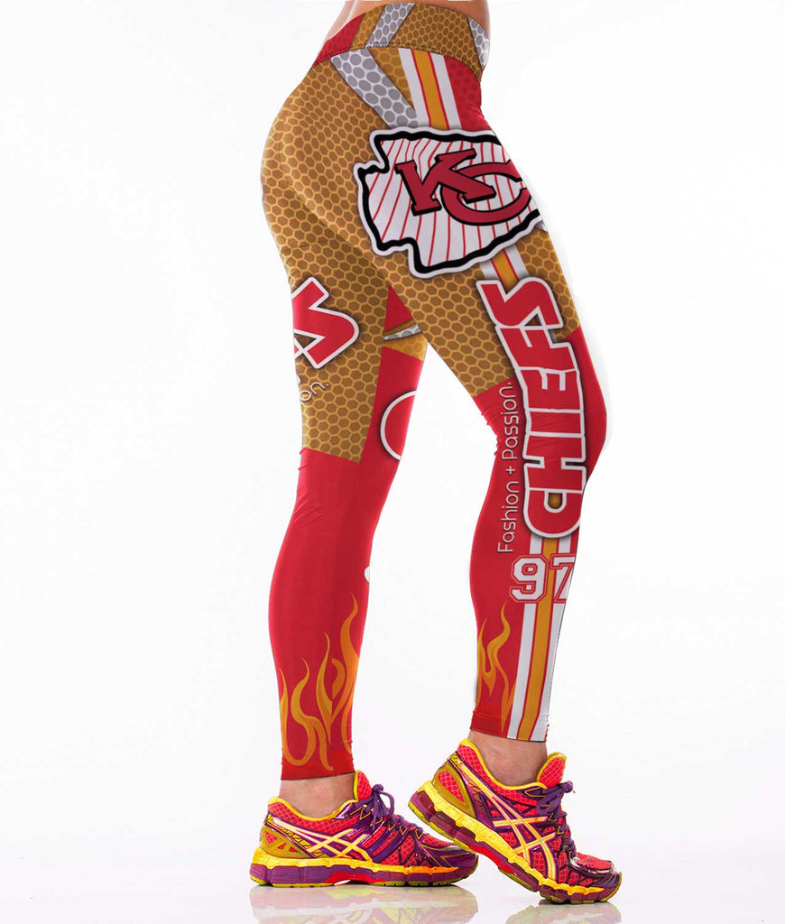 Kansas Chiefs Football Sports Leggings for Women