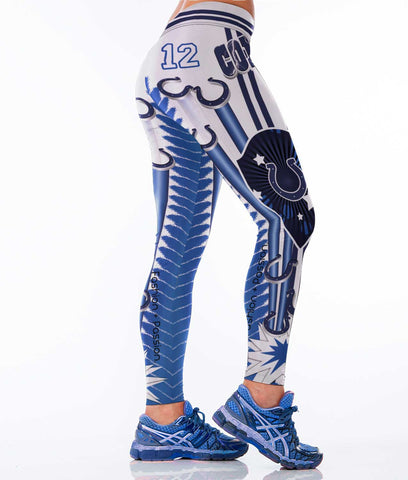 Indianapolis Colts Football Sports Leggings for Women