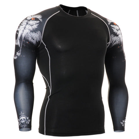 Ferocious Red Eye Life Track Compression Long Sleeve