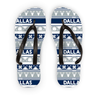 Image of Dallas Ugly Christmas Flip Flops