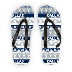 Dallas Ugly Christmas Flip Flops