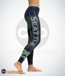 CNC Blue Seattle Sports Leggings (High Quality)