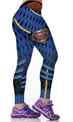 Blue Dawn of Justice Honeycomb Leggings