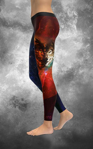 HQ Wolf Galaxy Leggings
