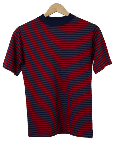 Red & Navy Striped Tee